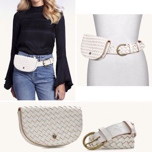 🆕Patricia Nash Fanny Pack Belt Leather White NWT
